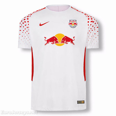 Red Bull Leipzig 2017-18 Home Shirt Soccer Jersey